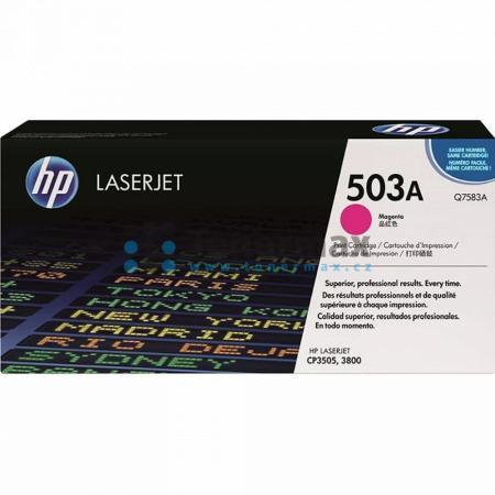 HP 503A, HP Q7583A, originální toner pro tiskárny HP Color LaserJet 3800, Color LaserJet 3800dn, Color LaserJet 3800dtn, Color LaserJet 3800n, Color LaserJet CP3505, Color LaserJet CP3505dn, Color LaserJet CP3505n, Color LaserJet CP3505x