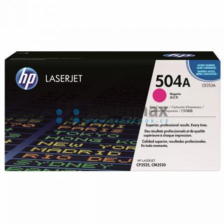 HP 504A, HP CE253A, originální toner pro tiskárny HP Color LaserJet CP3525, Color LaserJet CP3525dn, Color LaserJet CP3525n, Color LaserJet CP3525x, Color Laserjet CM3530 MFP, Color Laserjet CM3530fs MFP