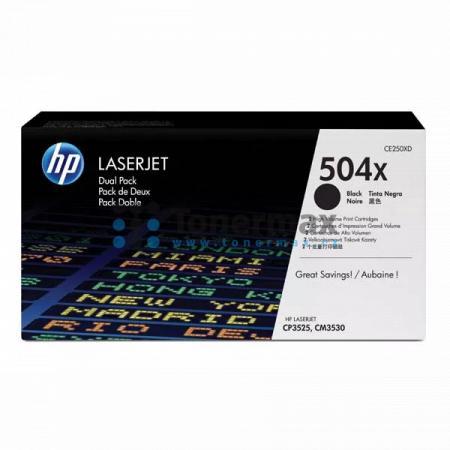 HP 504X, HP CE250XD, dvoubalení, originální toner pro tiskárny HP Color LaserJet CP3525, Color LaserJet CP3525dn, Color LaserJet CP3525n, Color LaserJet CP3525x, Color Laserjet CM3530 MFP, Color Laserjet CM3530fs MFP