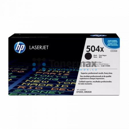 HP 504X, HP CE250X, originální toner pro tiskárny HP Color LaserJet CP3525, Color LaserJet CP3525dn, Color LaserJet CP3525n, Color LaserJet CP3525x, Color Laserjet CM3530 MFP, Color Laserjet CM3530fs MFP