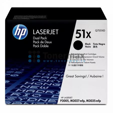 HP 51X, HP Q7551XD, dvoubalení, originální toner pro tiskárny HP LaserJet M3027 MFP, LaserJet M3027, LaserJet M3027x MFP, LaserJet M3027x, LaserJet M3035 MFP, LaserJet M3035, LaserJet M3035xs MFP, LaserJet M3035xs, LaserJet P3005, LaserJet P3005d, LaserJe