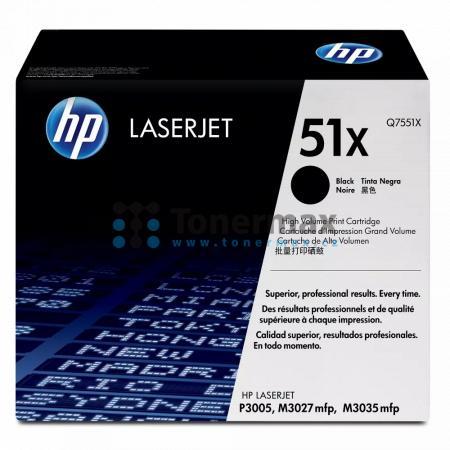 HP 51X, HP Q7551X, originální toner pro tiskárny HP LaserJet M3027 MFP, LaserJet M3027, LaserJet M3027x MFP, LaserJet M3027x, LaserJet M3035 MFP, LaserJet M3035, LaserJet M3035xs MFP, LaserJet M3035xs, LaserJet P3005, LaserJet P3005d, LaserJet P3005dn, La