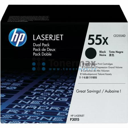 HP 55X, HP CE255XD, dvoubalení, originální toner pro tiskárny HP LaserJet 500 MFP M525, LaserJet Enterprise 500 MFP M525, LaserJet Enterprise 500 MFP M525dn, LaserJet Enterprise 500 MFP M525f, LaserJet Enterprise flow MFP M525c, LaserJet P3015, LaserJet E
