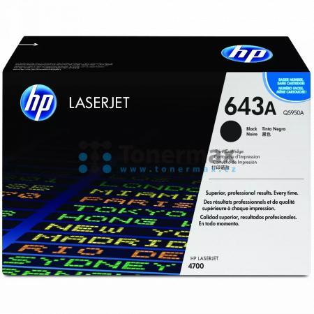HP 643A, HP Q5950A, originální toner pro tiskárny HP Color LaserJet 4700, Color LaserJet 4700dn, Color LaserJet 4700dtn, Color LaserJet 4700n, Color LaserJet 4700ph+