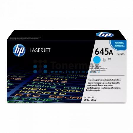 HP 645A, HP C9731A, originální toner pro tiskárny HP Color LaserJet 5500, Color LaserJet 5500dn, Color LaserJet 5500dtn, Color LaserJet 5500hdn, Color LaserJet 5500n, Color LaserJet 5550, Color LaserJet 5550dn, Color LaserJet 5550dtn, Color LaserJet 5550h