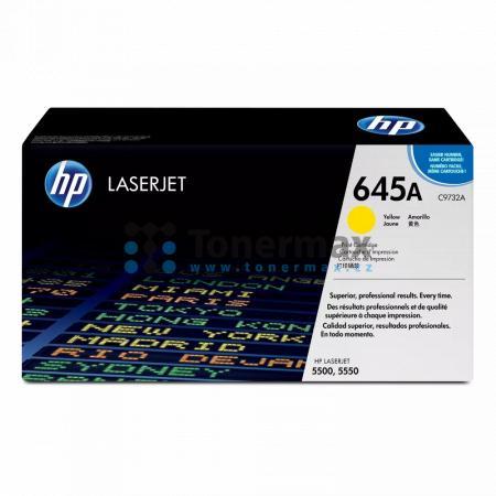 HP 645A, HP C9732A, originální toner pro tiskárny HP Color LaserJet 5500, Color LaserJet 5500dn, Color LaserJet 5500dtn, Color LaserJet 5500hdn, Color LaserJet 5500n, Color LaserJet 5550, Color LaserJet 5550dn, Color LaserJet 5550dtn, Color LaserJet 5550h