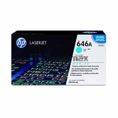 HP 646A, HP CF031A, originální toner pro tiskárny HP Color LaserJet CM4540 MFP, Color LaserJet Enterprise CM4540 MFP, Color LaserJet Enterprise CM4540f MFP, Color LaserJet Enterprise CM4540fskm MFP