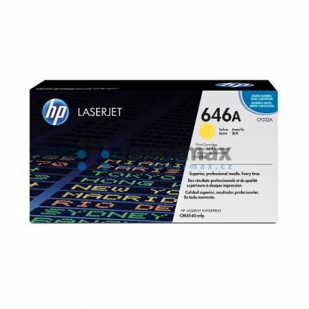 HP 646A, HP CF032A, originální toner pro tiskárny HP Color LaserJet CM4540 MFP, Color LaserJet Enterprise CM4540 MFP, Color LaserJet Enterprise CM4540f MFP, Color LaserJet Enterprise CM4540fskm MFP