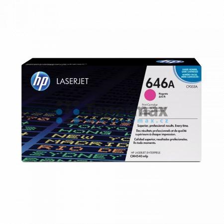 HP 646A, HP CF033A, originální toner pro tiskárny HP Color LaserJet CM4540 MFP, Color LaserJet Enterprise CM4540 MFP, Color LaserJet Enterprise CM4540f MFP, Color LaserJet Enterprise CM4540fskm MFP