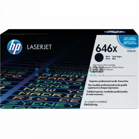HP 646X, HP CE264X, originální toner pro tiskárny HP Color LaserJet CM4540 MFP, Color LaserJet Enterprise CM4540 MFP, Color LaserJet Enterprise CM4540f MFP, Color LaserJet Enterprise CM4540fskm MFP