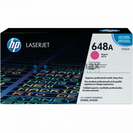 HP 648A, HP CE263A, originální toner pro tiskárny HP Color LaserJet CP4025, Color LaserJet CP4525, Color LaserJet Enterprise CP4025, Color LaserJet Enterprise CP4025dn, Color LaserJet Enterprise CP4025n, Color LaserJet Enterprise CP4525, Color LaserJet En
