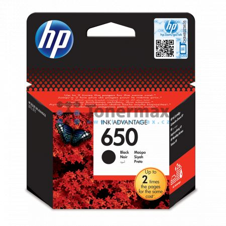 HP 650, HP CZ101AE, originální cartridge pro tiskárny HP Deskjet Ink Advantage 1015, Deskjet Ink Advantage 1515, Deskjet Ink Advantage 1516, Deskjet Ink Advantage 2510, Deskjet Ink Advantage 2515, Deskjet Ink Advantage 2516, Deskjet Ink Advantage 2545, De