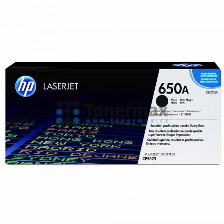 HP 650A, HP CE270A, originální toner pro tiskárny HP Color LaserJet CP5525, Color LaserJet Enterprise CP5525, Color LaserJet Enterprise CP5525dn, Color LaserJet Enterprise CP5525n, Color LaserJet Enterprise CP5525xh, Color LaserJet Enterprise M750, Color