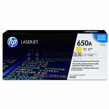 HP 650A, HP CE272A, originální toner pro tiskárny HP Color LaserJet CP5525, Color LaserJet Enterprise CP5525, Color LaserJet Enterprise CP5525dn, Color LaserJet Enterprise CP5525n, Color LaserJet Enterprise CP5525xh, Color LaserJet Enterprise M750, Color