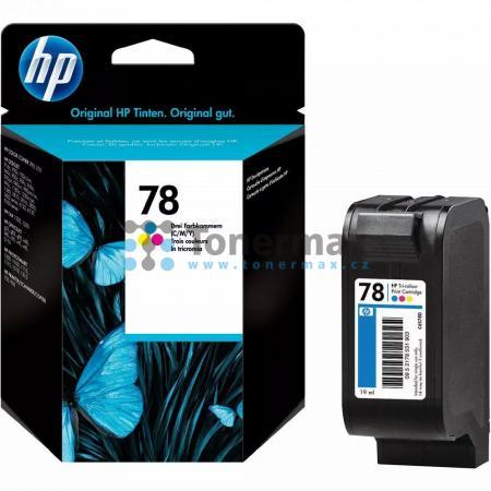 HP 78, HP C6578D, originální cartridge pro tiskárny HP Color Copier 180, Color Copier 190, Color Copier 280, Color Copier 290, Color Copier 310, Deskjet 916c, Deskjet 920c, Deskjet 920cvr, Deskjet 920cw, Deskjet 920cxi, Deskjet 922c, Deskjet 930, Deskjet