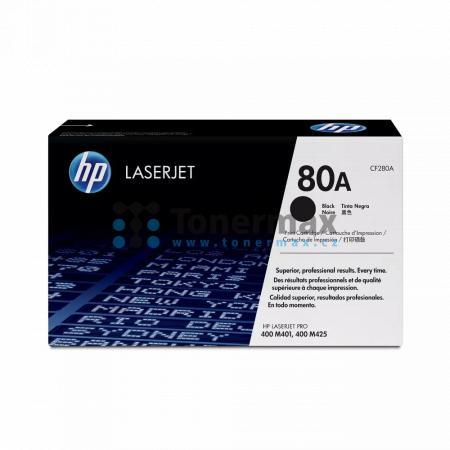 HP 80A, HP CF280A, originální toner pro tiskárny HP LaserJet Pro 400 M401a, LaserJet Pro 400 M401, LaserJet Pro 400 M401d, LaserJet Pro 400 M401dn, LaserJet Pro 400 M401dne, LaserJet Pro 400 M401dw, LaserJet Pro 400 M401n, LaserJet Pro 400 MFP M425dn, Las