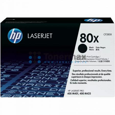HP 80X, HP CF280X, originální toner pro tiskárny HP LaserJet Pro 400 M401a, LaserJet Pro 400 M401, LaserJet Pro 400 M401d, LaserJet Pro 400 M401dn, LaserJet Pro 400 M401dne, LaserJet Pro 400 M401dw, LaserJet Pro 400 M401n, LaserJet Pro 400 MFP M425dn, Las
