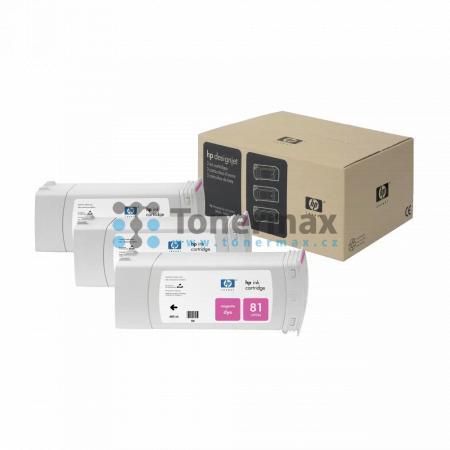 HP 81, HP C5068A, dye, 3ks, originální cartridge pro tiskárny HP Designjet 5000, Designjet 5000ps, Designjet 5500, Designjet 5500ps