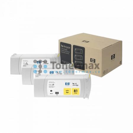 HP 81, HP C5069A, dye, 3ks, originální cartridge pro tiskárny HP Designjet 5000, Designjet 5000ps, Designjet 5500, Designjet 5500ps