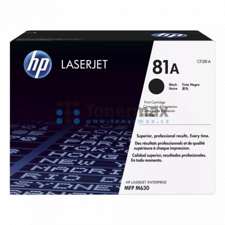 HP 81A, HP CF281A, originální toner pro tiskárny HP LaserJet Enterprise Flow MFP M630, LaserJet Enterprise Flow MFP M630z, LaserJet Enterprise M604, LaserJet Enterprise M604dn, LaserJet Enterprise M604n, LaserJet Enterprise M605, LaserJet Enterprise M605d