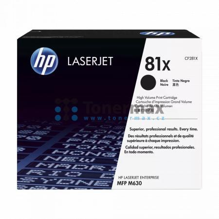 HP 81X, HP CF281X, originální toner pro tiskárny HP LaserJet Enterprise Flow MFP M630, LaserJet Enterprise Flow MFP M630z, LaserJet Enterprise M605, LaserJet Enterprise M605dn, LaserJet Enterprise M605n, LaserJet Enterprise M605x, LaserJet Enterprise M606