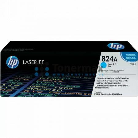 HP 824A, HP CB381A, originální toner pro tiskárny HP Color LaserJet CM6030 MFP, Color LaserJet CM6030, Color LaserJet CM6030f MFP, Color LaserJet CM6040 MFP, Color LaserJet CM6040, Color LaserJet CM6040f MFP, Color LaserJet CP6015de, Color LaserJet CP6015