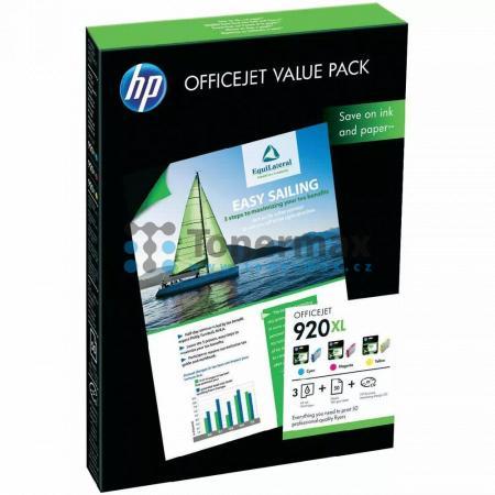 HP 920XL, CH081AE + 50 listů 210x297mm, originální cartridge pro tiskárny HP Officejet 6000, Officejet 6000 Wireless, Officejet 6500, Officejet 6500 Wireless, Officejet 6500A, Officejet 6500A Plus, Officejet 7000, Officejet 7000 Wide Format, Officejet 750
