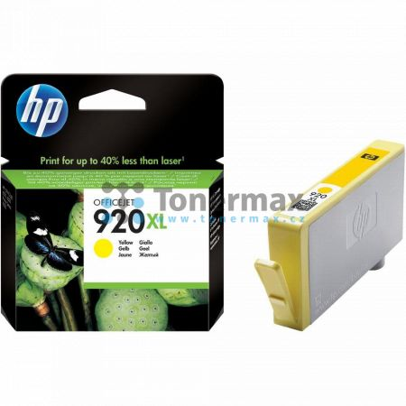 HP 920XL, HP CD974AE, originální cartridge pro tiskárny HP Officejet 6000, Officejet 6000 Wireless, Officejet 6500, Officejet 6500 Wireless, Officejet 6500A, Officejet 6500A Plus, Officejet 7000, Officejet 7000 Wide Format, Officejet 7500A, Officejet 7500