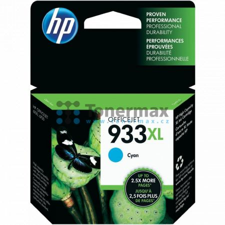 HP 933XL, HP CN054AE, originální cartridge pro tiskárny HP OfficeJet 7510, Officejet 6100, Officejet 6600, Officejet 6700 Premium, Officejet 7110, Officejet 7110 Wide Format, Officejet 7610, Officejet 7612