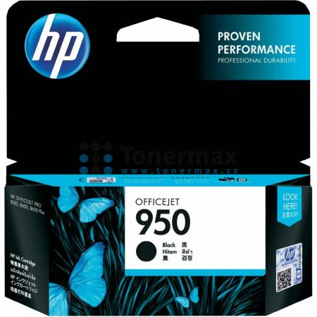 HP 950, HP CN049AE, originální cartridge pro tiskárny HP Officejet Pro 251dw, Officejet Pro 276dw, Officejet Pro 8100, Officejet Pro 8600, Officejet Pro 8600 Plus, Officejet Pro 8600 Premium, Officejet Pro 8610, Officejet Pro 8620, Officejet Pro 8630