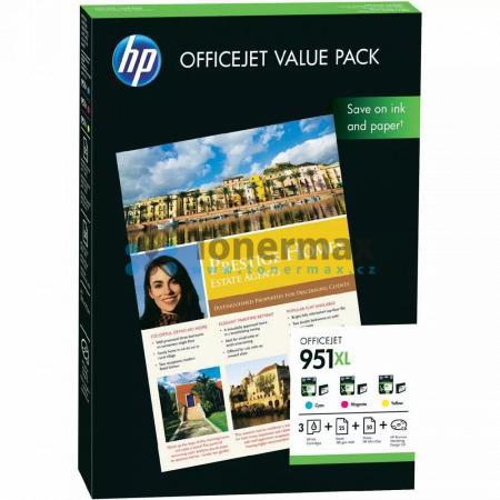 HP 951XL, HP CR712AE + 75 listů 210x297mm, originální cartridge pro tiskárny HP Officejet Pro 251dw, Officejet Pro 276dw, Officejet Pro 8100, Officejet Pro 8600, Officejet Pro 8600 Plus, Officejet Pro 8600 Premium, Officejet Pro 8610, Officejet Pro 8620,