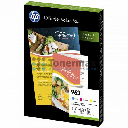 HP 963, HP 6JR42AE, Officejet Value Pack + 125 listů A4