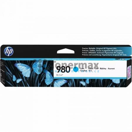 HP 980, HP D8J07A, originální cartridge pro tiskárny HP Officejet Enterprise Color Flow MFP X585z, Officejet Enterprise Color MFP X585, Officejet Enterprise Color MFP X585dn, Officejet Enterprise Color MFP X585f, Officejet Enterprise Color X555, Officejet