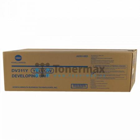 Konica Minolta DV311Y, DV-311Y, A0XV08D, Developing Unit, poškozený obal, originální pro tiskárny Konica Minolta bizhub C220, bizhub C280, bizhub C360