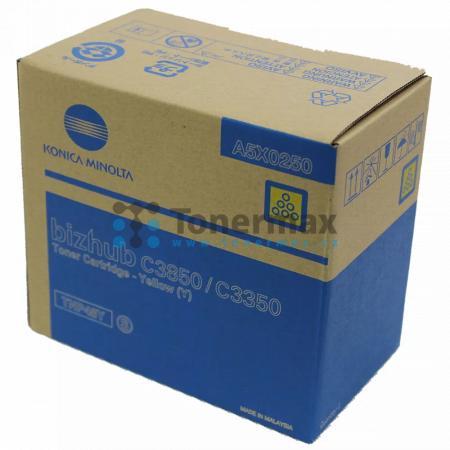 Konica Minolta TNP48Y, TNP-48Y, A5X0250, originální toner pro tiskárny Konica Minolta bizhub C3350, bizhub C3850, bizhub C3850FS