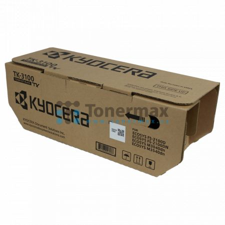 Kyocera TK-3100, TK3100, originální toner pro tiskárny Kyocera ECOSYS M3040dn, ECOSYS M3540dn, FS-2100D, FS-2100DN