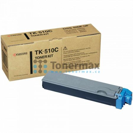 Kyocera TK-510C, TK510C, poškozený obal, originální toner pro tiskárny Kyocera FS-C5020N, FS-C5025N, FS-C5030N