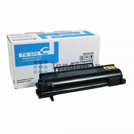 Kyocera TK-570C, TK570C, originální toner pro tiskárny Kyocera ECOSYS P7035cdn, FS-C5400DN