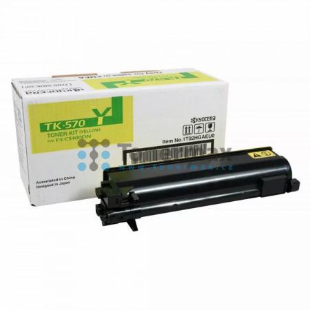 Kyocera TK-570Y, TK570Y, originální toner pro tiskárny Kyocera ECOSYS P7035cdn, FS-C5400DN