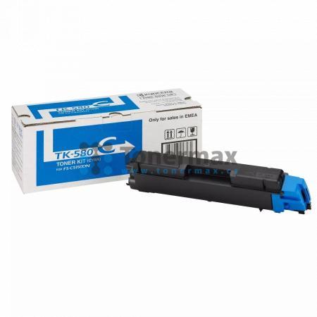 Kyocera TK-580C, TK580C, originální toner pro tiskárny Kyocera ECOSYS P6021cdn, FS-C5150DN