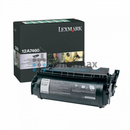 Lexmark 12A7460, return, originální toner pro tiskárny Lexmark T630, T630dn, T630n, T630nve, T630ve, T632, T632dtn, T632n, T632tn, T634, T634dn, T634dtn, T634dtnf, T634n, T634tn, X630, X632, X632e, X632s, X634dte, X634e