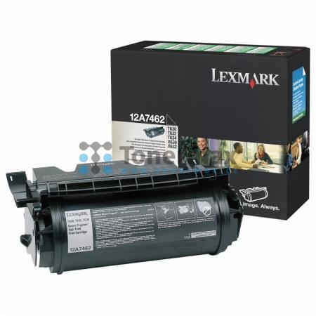 Lexmark 12A7462, return, originální toner pro tiskárny Lexmark T630, T630dn, T630n, T630nve, T630ve, T632, T632dtn, T632n, T632tn, T634, T634dn, T634dtn, T634dtnf, T634n, T634tn, X630, X632, X632e, X632s, X634dte, X634e