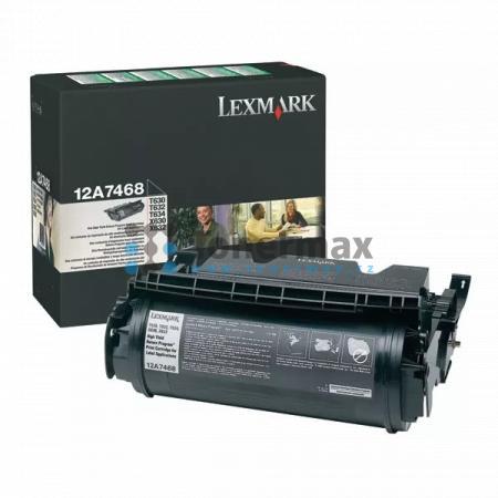 Lexmark 12A7468, return, pro tisk etiket, originální toner pro tiskárny Lexmark T630, T630dn, T630n, T630nve, T630ve, T632, T632dtn, T632n, T632tn, T634, T634dn, T634dtn, T634dtnf, T634n, T634tn, X630, X632, X632e, X632s, X634dte, X634e