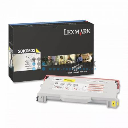 Lexmark 20K0502, poškozený obal, originální toner pro tiskárny Lexmark C510, C510dtn, C510n