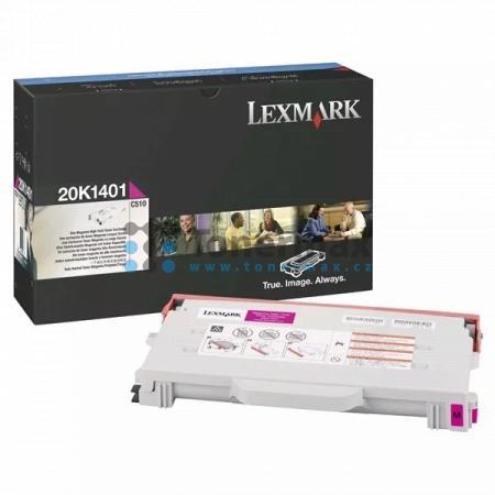 Lexmark 20K1401, originální toner pro tiskárny Lexmark C510, C510dtn, C510n