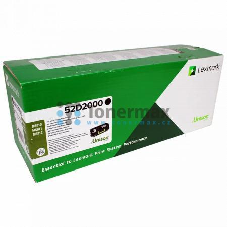 Lexmark 52D2000, 522, return, originální toner pro tiskárny Lexmark MS810de, MS810dn, MS810dtn, MS810n, MS811dn, MS811dtn, MS811n, MS812de, MS812dn, MS812dtn