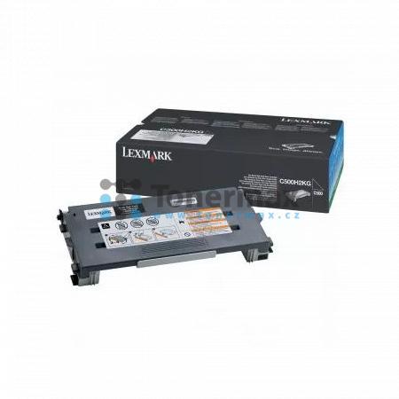 Lexmark C500H2KG, return, originální toner pro tiskárny Lexmark C500n, X500n, X502n