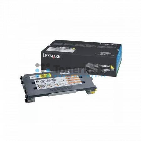 Lexmark C500H2YG, return, originální toner pro tiskárny Lexmark C500n, X500n, X502n