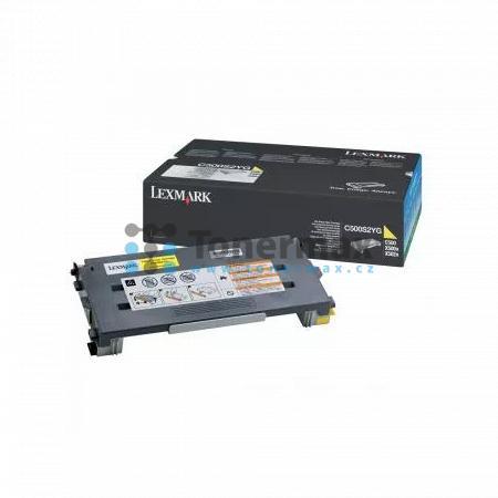 Lexmark C500S2YG, return, originální toner pro tiskárny Lexmark C500n, X500n, X502n