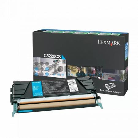 Lexmark C5220CS, return, originální toner pro tiskárny Lexmark C522n, C524, C524dn, C524dtn, C524n, C530dn, C532dn, C532n, C534dn, C534dtn, C534n